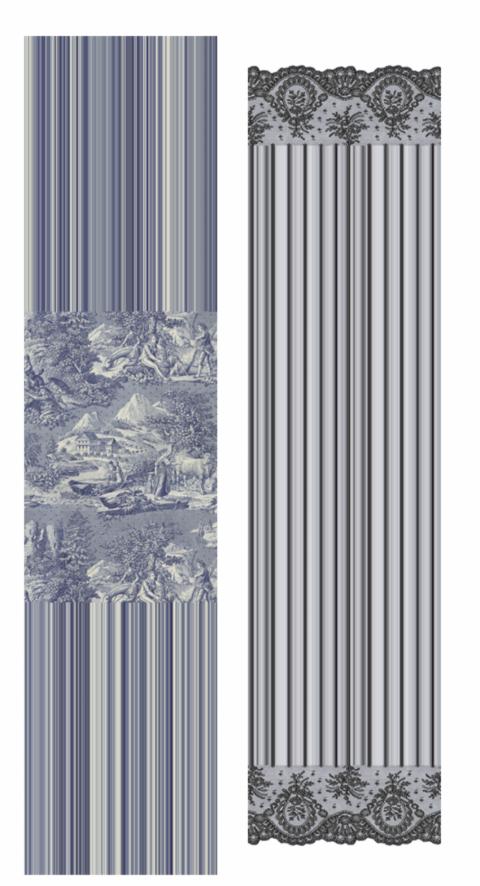 Toile de Jouy & Lace silk scarves