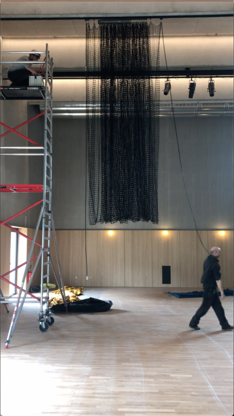 collaborators Epigone, installation in process - photo: Flore Fockedey