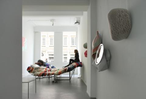 """""""Reasons for Walling a House"""",  Valerie Traan Gallery, Antwerpen 2012, photo: Filip Dujardin"""